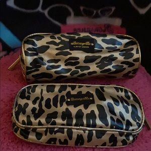 Betsey Johnson Leopard Print Makeup Bags Set